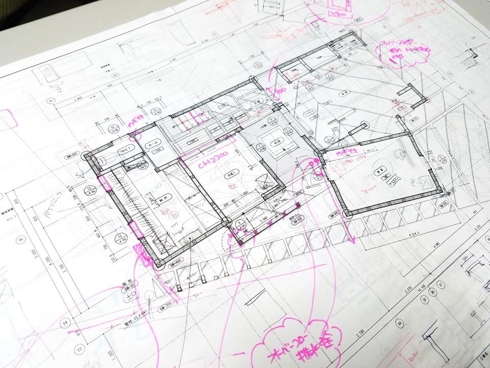愛知県豊田市のタバタ設計の図面